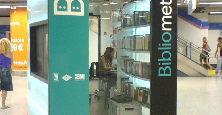 Bibliometro di Madrid. Libri in stazione