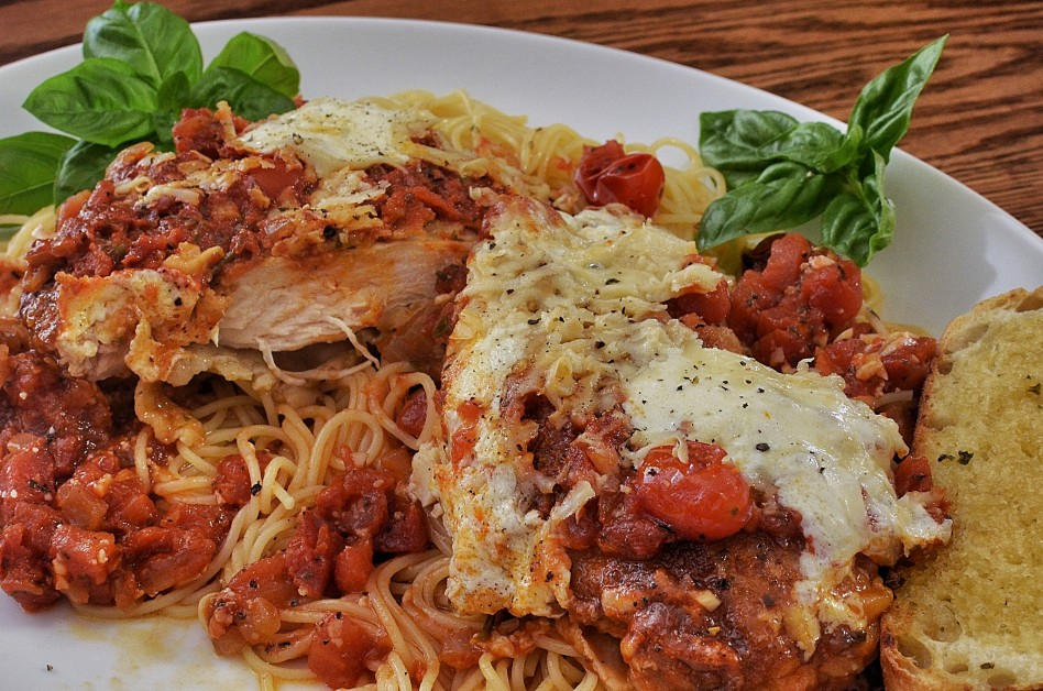 cucina italiana negli Stati Uniti chicken parmesan