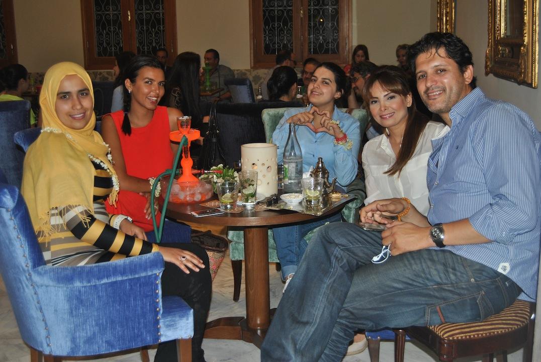 al caffé lamedina assieme all'attrice tunisina Abir Bennani Zarouni