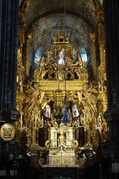 Interno della cattedrale di Santiago
