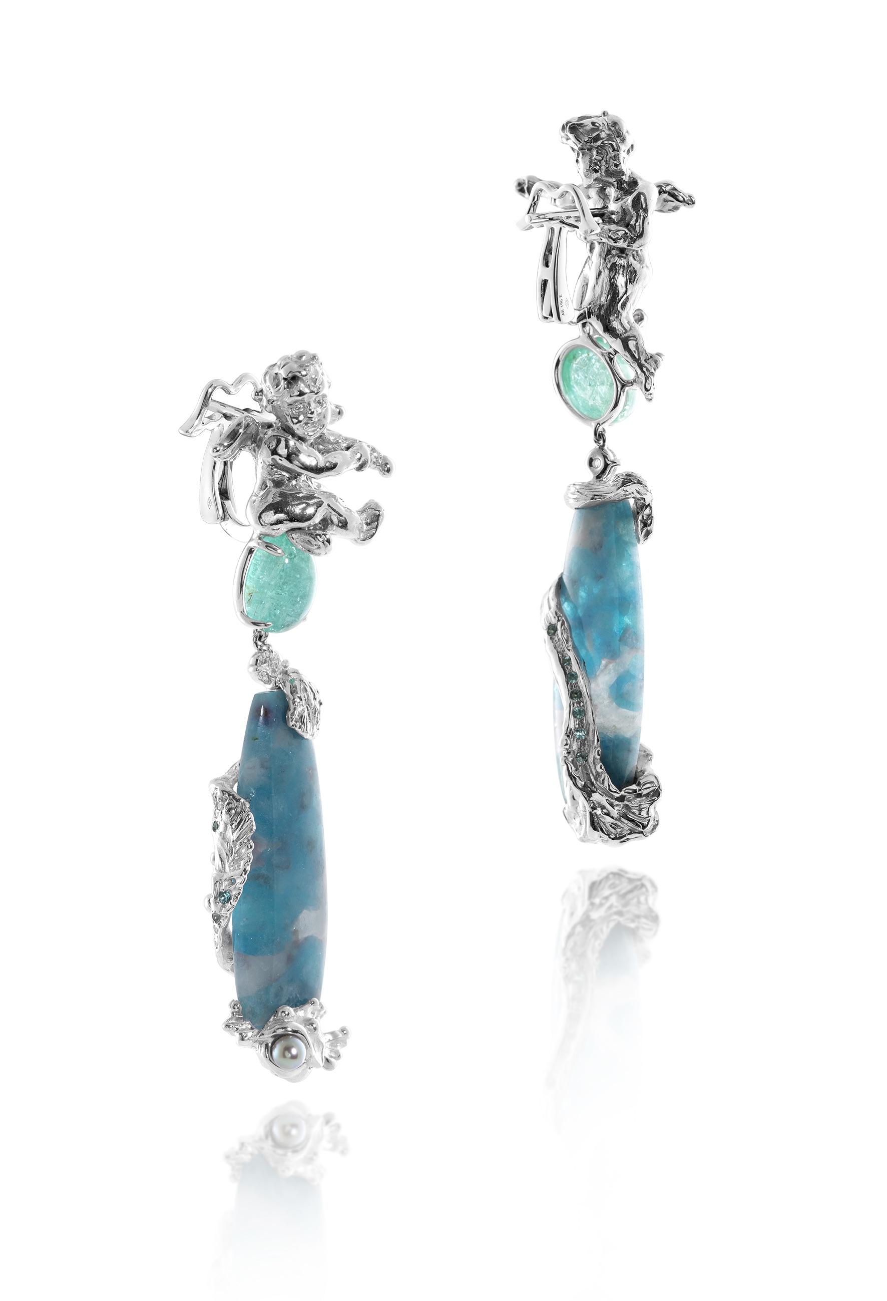 I gioielli di Alessio Boschi: orecchini Fontana del Nettuno