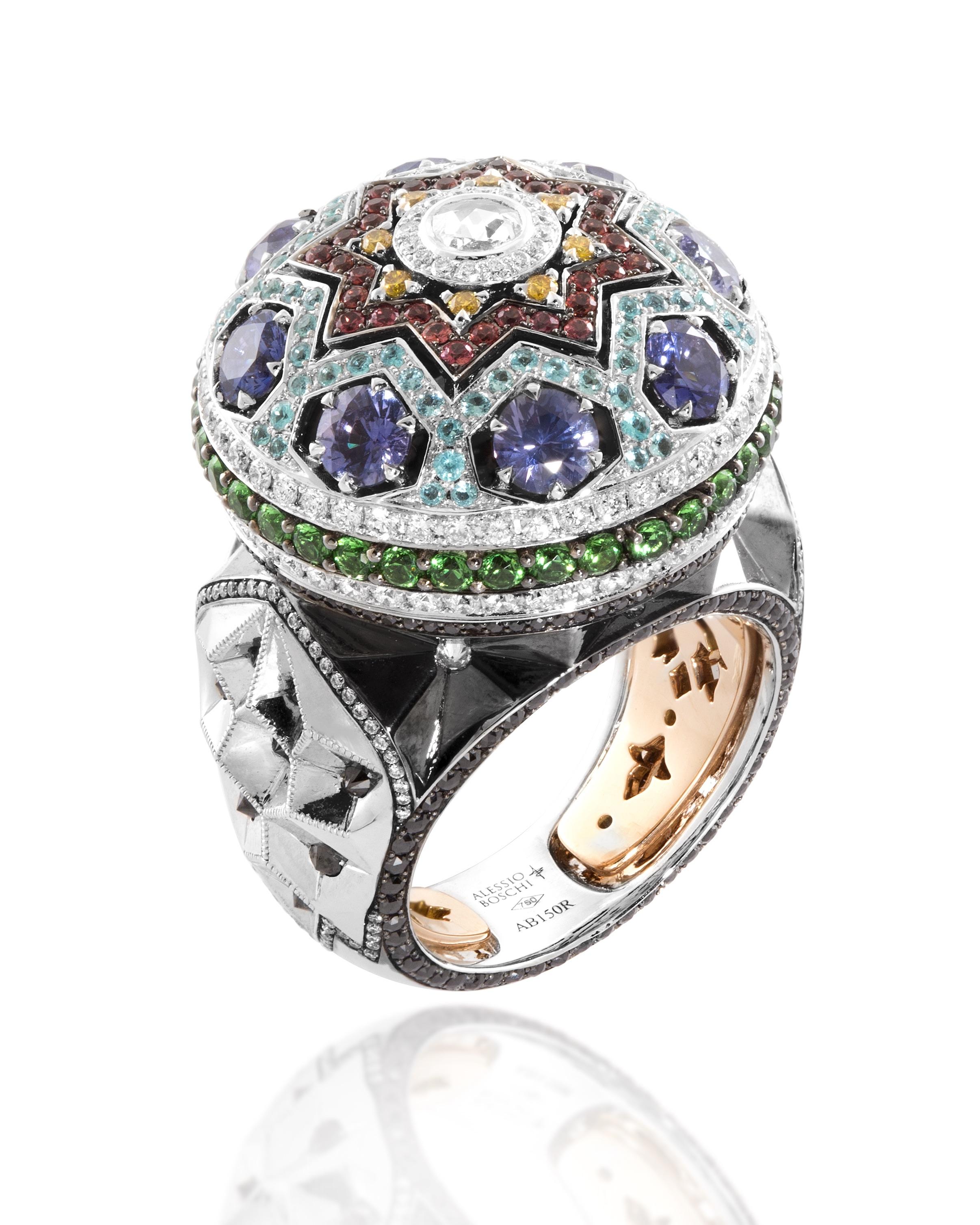 gioielli di Alessio Boschi THE QAJAR PRIDE RING