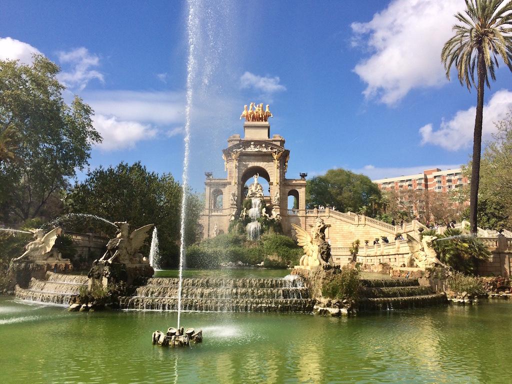 La fontana del grande parco de la Ciutadella, che ospita anche lo zoo di Barcellona