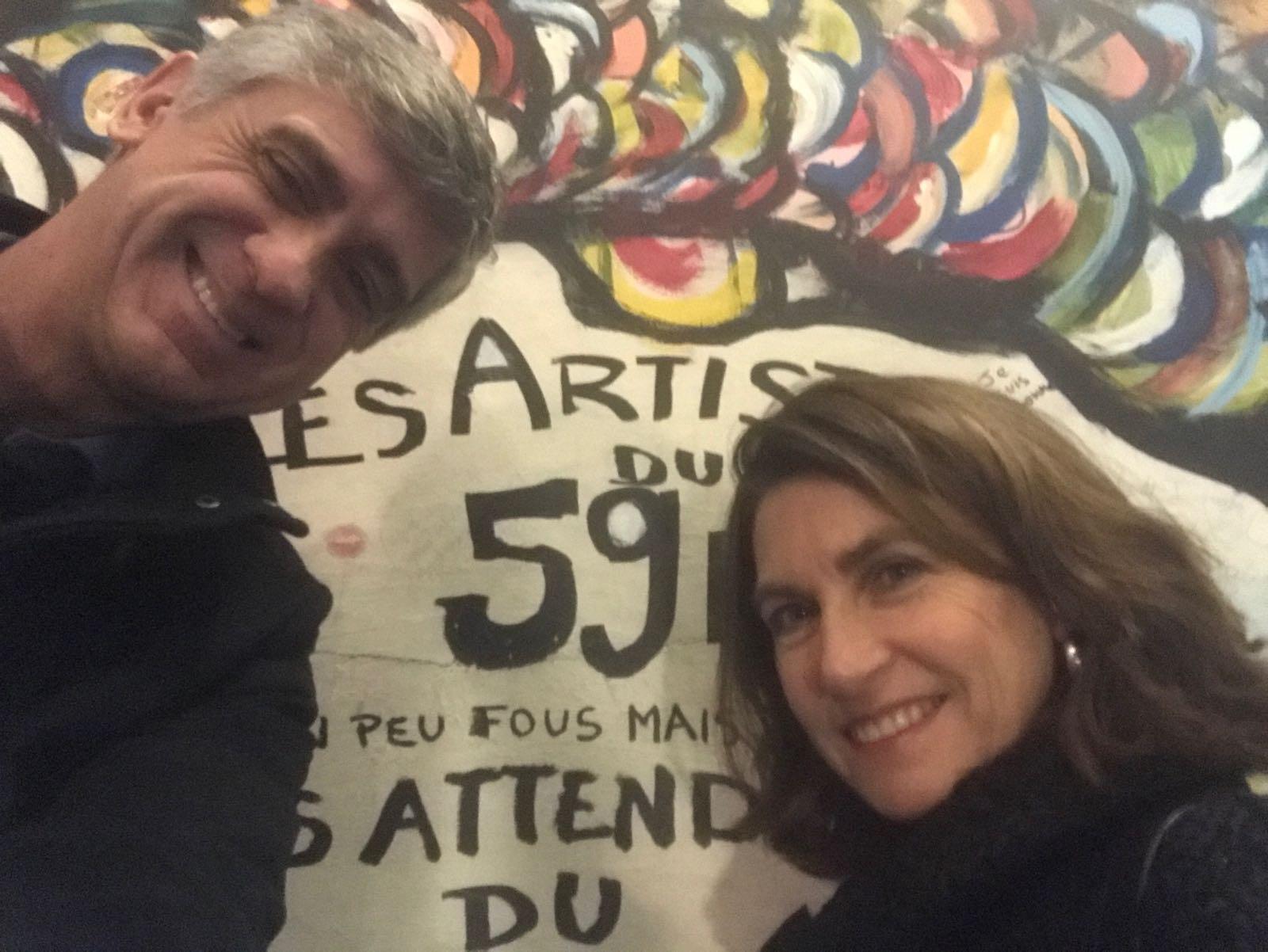 Mauro Russo con la moglie Belen a Parigi
