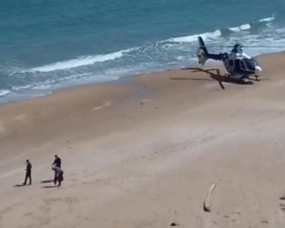 arresto sulla spiaggia